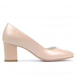 Women stylish, elegant shoes 1268 patent ivory