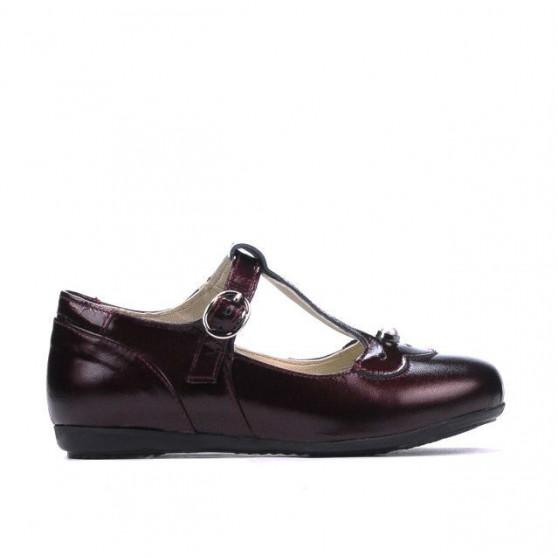 Small children shoes 63c patent bordo