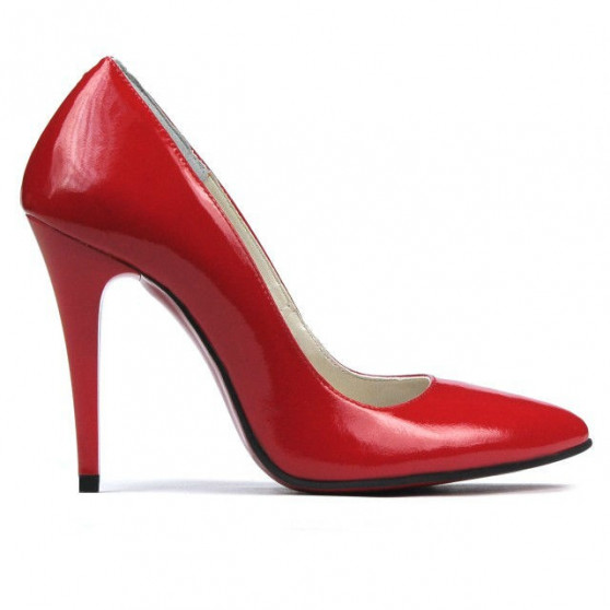 Women stylish, elegant shoes 1241 patent red