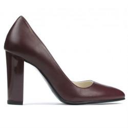Women stylish, elegant shoes 1261 bordo
