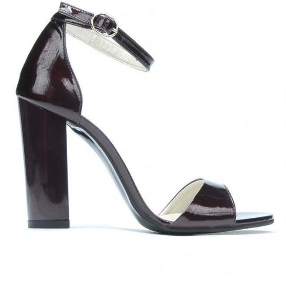 Sandale dama 1259 lac bordo satinat