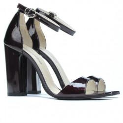 Women sandals 1259 patent bordo satin