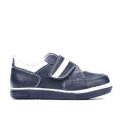 Small children shoes 64c indigo+white