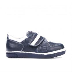 Small children shoes 64c indigo+white
