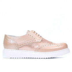Women casual shoes 663-2 pudra pearl combined