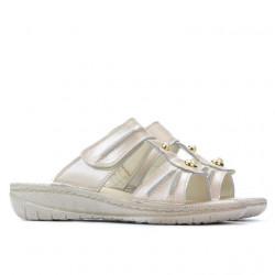 Women sandals 5045 beige pearl