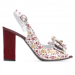 Women sandals 1256 bordo floral multicolor