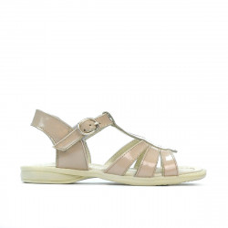 Small children sandals 53c patent ivory