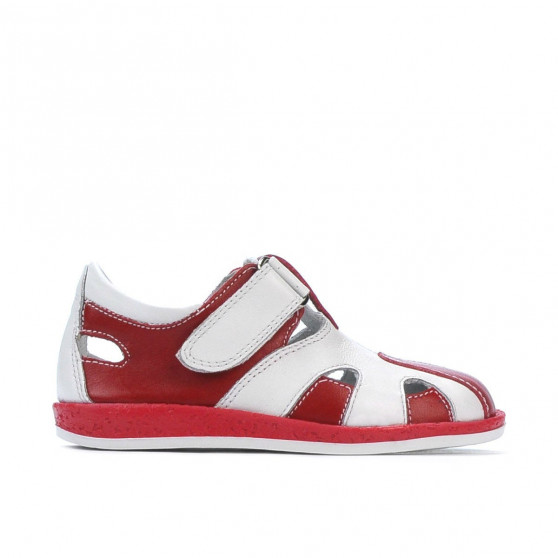 Small children shoes 07-1c red+white