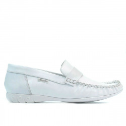 Women loafers, moccasins 189 white