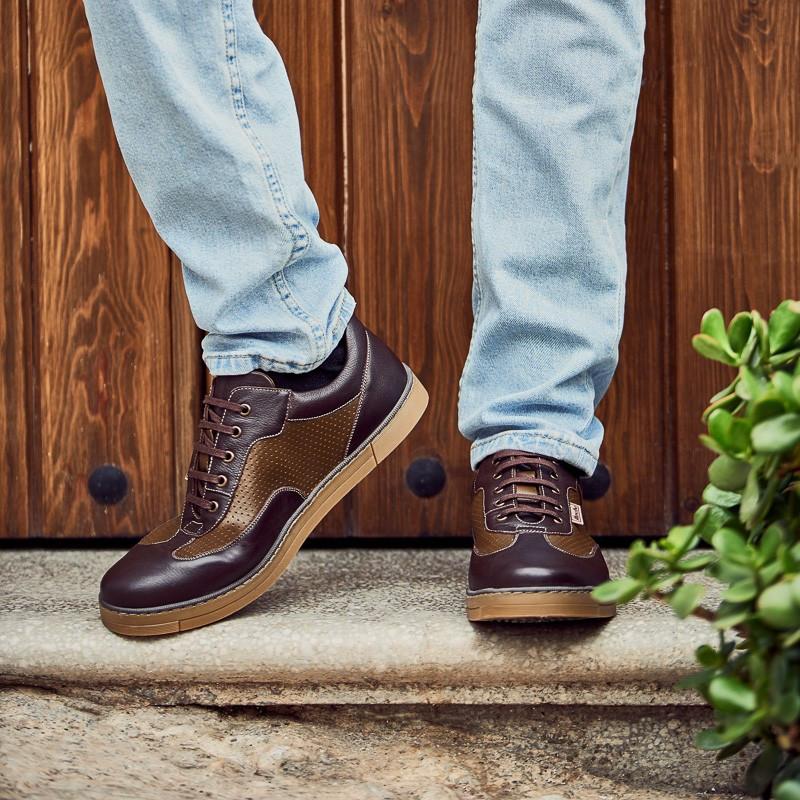 Pantofi sport barbati 886 cafe combinat lifestyle
