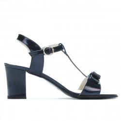 Women sandals 1257 patent indigo pearl