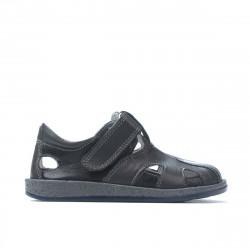 Small children shoes 07-1c indigo+gray