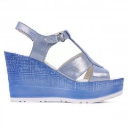 Women sandals 5054 bleu argento