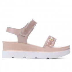 Sandale dama 5051 pudra sidef combinat