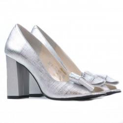 Women sandals 1271 silver satinat