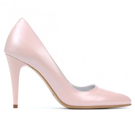 Women stylish, elegant shoes 1246 pudra