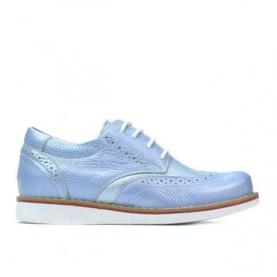 Children shoes 154 bleu pearl combined