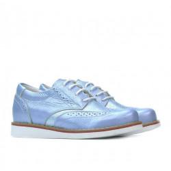 Pantofi copii 154 bleu sidef combinat
