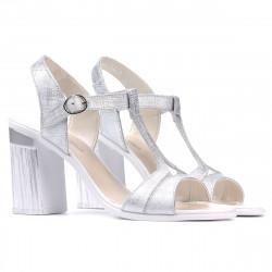 Women sandals 5055 silver pearl