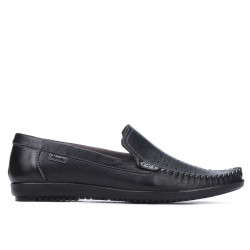 Men loafers, moccasins 888 black