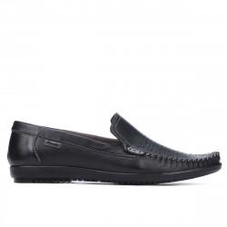 Men loafers, moccasins 888 black
