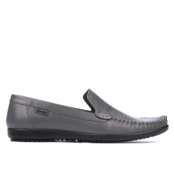 Men loafers, moccasins 888 gray