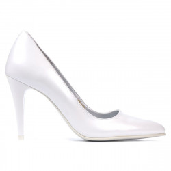 Women stylish, elegant shoes 1246 white pearl