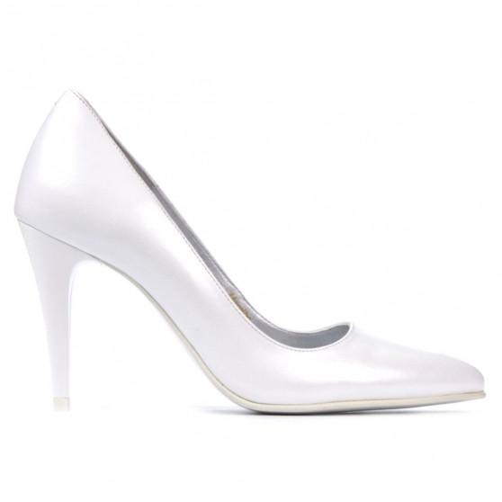 Women stylish, elegant shoes 1246 white pearl