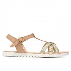 Women sandals 5038 golden combined