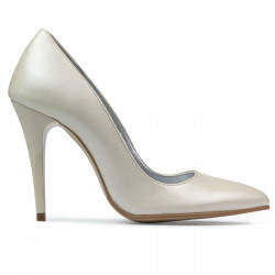 Women stylish, elegant shoes 1241 beige
