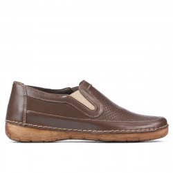 Women loafers, moccasins (large size) 6000m cappuccino