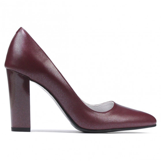 Pantofi eleganti dama 1261 bordo sidef