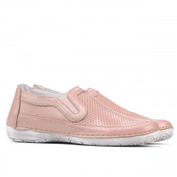 Women loafers, moccasins 6000 nude