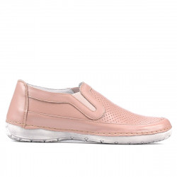 Women loafers, moccasins (large size) 6000m nude