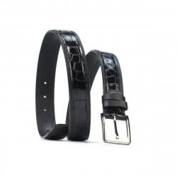 Men belt 32bc black+croco black
