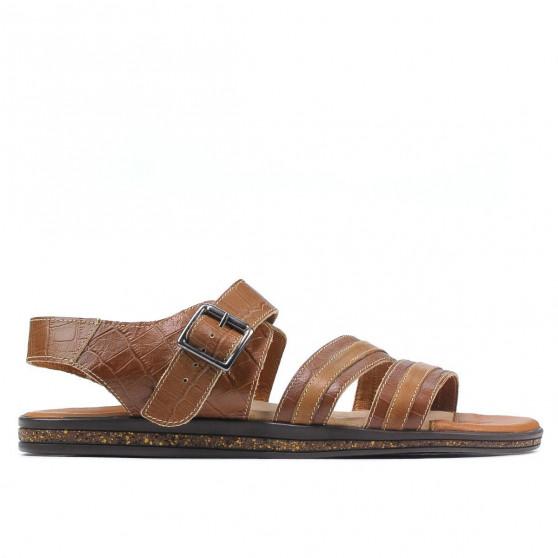 Sandale barbati 315 croco maro