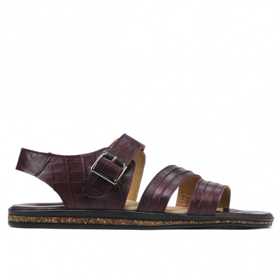 Men sandals 315 croco burgundy