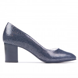 Women stylish, elegant shoes 1268 piton indigo