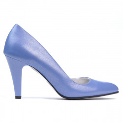 Women stylish, elegant shoes 1234 bleu pearl