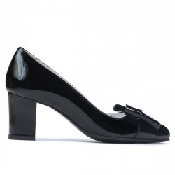Women stylish, elegant shoes 1265-1 patent black
