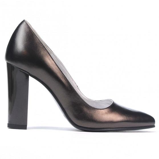 Women stylish, elegant shoes 1261 brown pearl