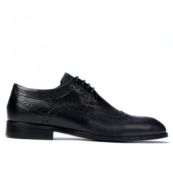 Men stylish, elegant shoes 892 black