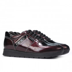 Women sport shoes 6003 patent bordo combined
