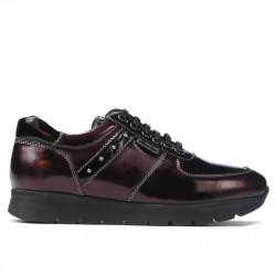 Pantofi sport dama 6003 lac bordo combinat
