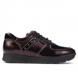 Women sport shoes 6003 patent bordo combined