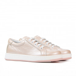 Children shoes 167 pudra pearl