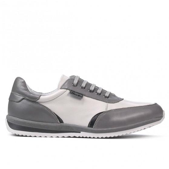 Pantofi sport adolescenti 374 gri combinat