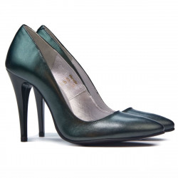 Women stylish, elegant shoes 1241 green pearl