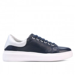Women sport shoes 6008 indigo+white
